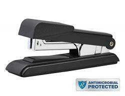 Bostitch B8 Powercrown Flat Clinch Premium Stapler, 40 Sheet Capacity, Black (B8Rc-Fc)