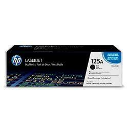HP 125A (CB540A) Black Toner Cartridge, 2 Toner Cartridges (CB540Ad) For HP Color Laserjet Cp1215 Cp1515 Cp1518 Cm1312