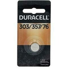 Duracell 1.5V Silver Oxide 303/357 Watch/Electronic Battery - Single Pack, Model# D303/357