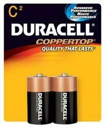Duracell Copper Top C Duracell Coppertop C Alkaline Batteries 1.5 Volt 2 Each