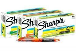 Sharpie Accent Pen-Style Highlighters, 12 Fluorescent Orange, 12 Fluorescent Yellow & 12 Fluorescent Green, Total Of 36 Highlighters