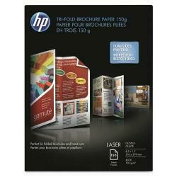 HP Tri-Fold Laser Brochure Paper, 97 Brightness, 40Lb, 8-1/2 X 11, White, 150 /Pack - Sold As 1 Pack - Rival Commercial Print Quality, Without Leaving The Office.