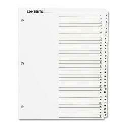 Sparco Table Of Content Quick Index Dividers