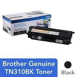 Brother Genuine Standard Yield Toner Cartridge, TN310BK, Replacement Black Toner, Page Yield Up To 2,500 Pages, TN310