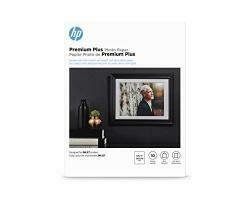 HP Premium Plus Photo Paper | Soft Gloss | 8.5X11 | 50 Sheets