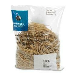 Business Source Products Rubber Bands, Size 19, 1Lb/Bg, Natural Crepe - 1 Bg