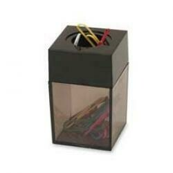 "Sparco Paper Clip Dispenser, Magnetic, 2""X3"", Gray/Black Qty:12"