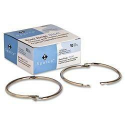 Sparco 3-Inch Diameter Book Rings (Box Of 10)