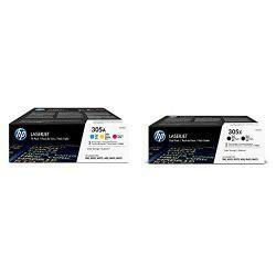 HP 305A | CE411A, CE412A, CE413A | 3 Toner Cartridges | Cyan, Yellow, Magenta