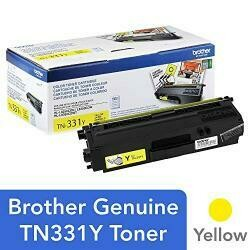 Brother Genuine Standard Yield Toner Cartridge, TN331Y, Replacement Yellow Toner, Page Yield Up To 1,500 Pages, Amazon Dash Replenishment Cartridge, TN331