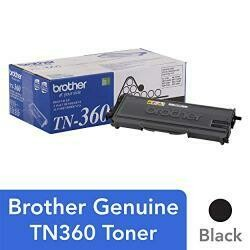 Brother Genuine High Yield Toner Cartridge, Black Toner, Page Yield Up To 2,600 Pages, TN360