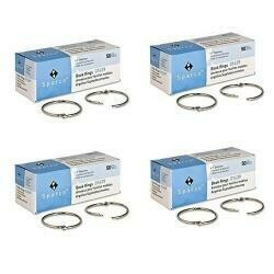 """Sparco Book Ring, 2"""" Diameter,100 Pack, Silver (Spr01439) (4 Pack)"""
