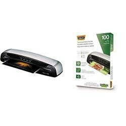 Fellowes Laminator Saturn3I 125, 12.5 Inch, Rapid 1 Minute Warm-Up Laminating Machine, With Laminating Pouches Kit &Thermal Laminating Pouches, Letter Size Sheets, 5Mil, 100Pk