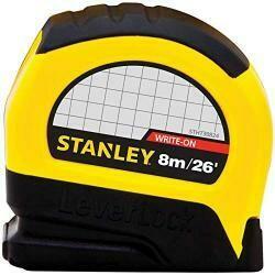 Stanley 30-824 8M/26 X 1-Inch Leverlock Tape Rule (Cm Graduation)