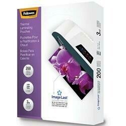 Fellowes Laminating Pouches, Letter, 200Pk (3Mil), Clear