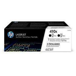 HP 410X (CF410X) Toner Cartridge, Black High Yield, 2 Toner Cartridges For HP Color Laserjet Pro M452Dn M452Dw M452Nw Mfp M377Dw Mfp M477Fdn Mfp M477Fdw Mfp M477Fnw - CF410Xd