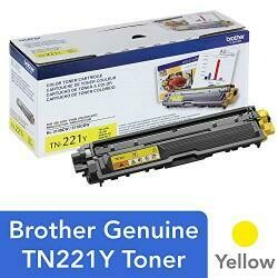 Brother Genuine Standard Yield Toner Cartridge, TN221Y, Replacement Yellow Color Toner, Page Yield Up To 1,400 Pages, Amazon Dash Replenishment Cartridge, TN221