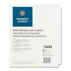 Business Source Plain Tab Index Dividers Index Diveder (16482)