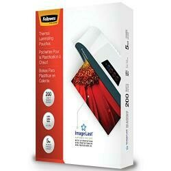 Fellowes Thermal Laminating Pouches, Imagelast, Jam Free, Letter Size, 5 Mil, 200 Pack (5245301)