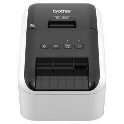 Brother QL-800 High-Speed Professional Label Printer, LighTNing Quick Printing, Plug &Label Feature, Brother Genuine Dk Pre-Sized Labels, Multi-System Compatible &Ndash; Black &Red Printing ...