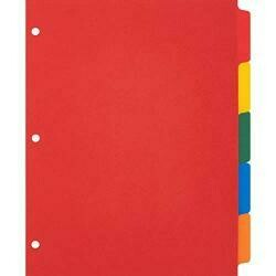 Business Source Plain Tab Color Polyethylene Index Dividers