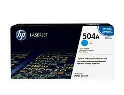 HP 504A (CE251A) Cyan Toner Cartridge For HP Color Laserjet Cp3525 Cm3530