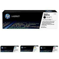 HP 201A Black And HP 201A Cyan/Magenta/Yellow Toner Cartridge Bundle (CF400A, CF401A, CF402A, CF403A)