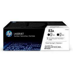HP 83A (CF283A) Black Toner Cartridge, 2 Toner Cartridges (CF283Ad) For HP Laserjet Pro M201 M201Dw M125 M127 M225Dn M225Dw