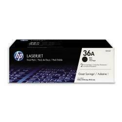 HP 36A (CB436A) Black Toner Cartridge, 2 Toner Cartridges (CB436D) For HP Laserjet M1120 M1522