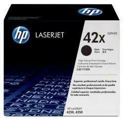 HP 42X (Q5942X) Black High Yield Toner Cartridge For HP Laserjet 4250 4350