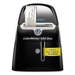 "Labelwriter Duo Printer, 2-7/16"" Labels, 71 Label/Min, 5-1/2W X 7-4/5D X 7-1/5H"