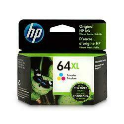 HP 64Xl Tri-Color Ink Cartridge (N9J91An) For HP Envy Photo 6252 6255 6258 7155 7158 7164 7855 7858 7864 HP Envy 5542