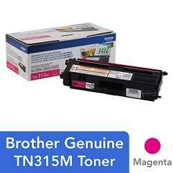 Brother Genuine High Yield Toner Cartridge, TN315M, Replacement Magenta Toner, Page Yield Up To 3,500 Pages, TN315
