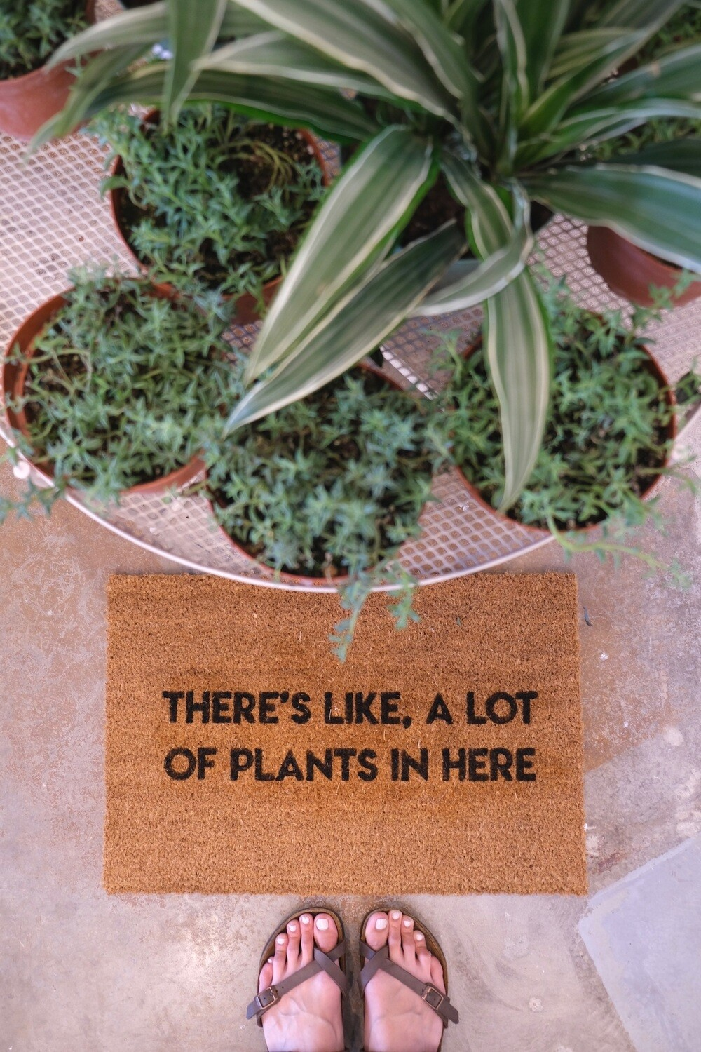 'There's Like A Lot of Plants in Here' Doormat