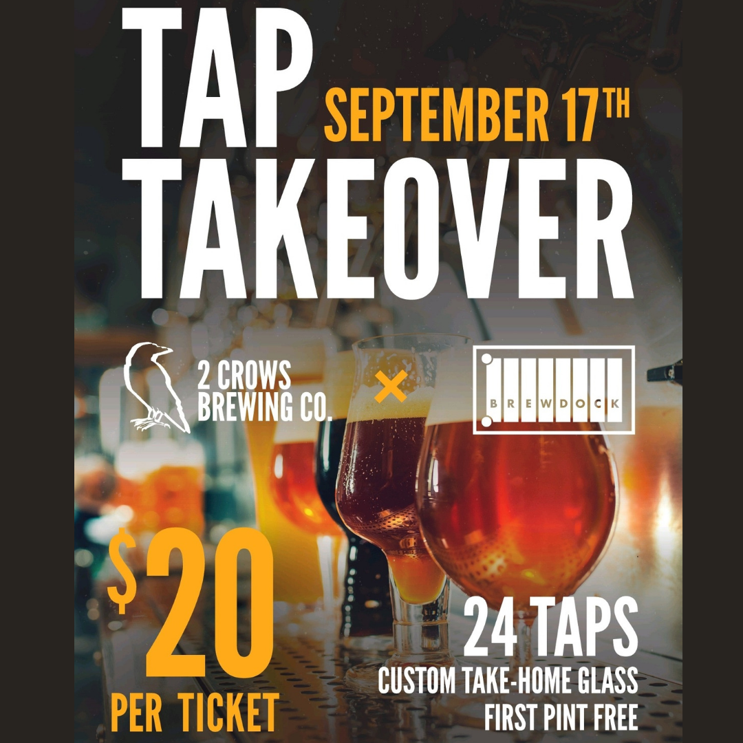 2 Crows Tap Takeover Ticket