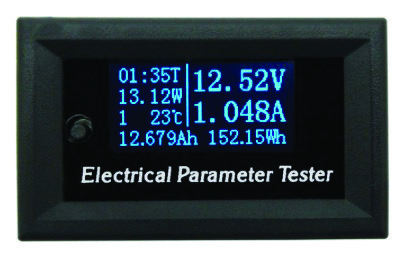 OM006 Μετρητής τάσης DC, ρεύματος, ελεγκτής μπαταρίας αυτοκινήτου