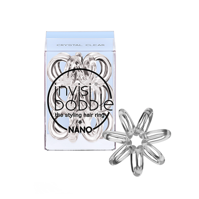 INVISIBOBBLE NANO CRYSTAL CLEAR Резинка-браслет для волос 3 шт. (прозрачный)