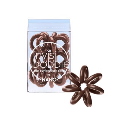 INVISIBOBBLE NANO PRETZEL BROWN Резинка-браслет для волос 3 шт. (коричневый)