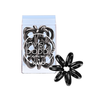 INVISIBOBBLE NANO TRUE BLACK Резинка-браслет для волос 3 шт. (черный)