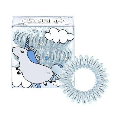 INVISIBOBBLE ORIGINAL UNICORN HENRY Резинка-браслет для волос 3 шт. (голубой металлик)