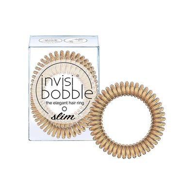 INVISIBOBBLE SLIM BRONZE ME PRETTY Резинка-браслет для волос 3 шт. (мерцающий бронзовый)