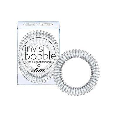 INVISIBOBBLE SLIM CHROME SWEET CHROME Резинка-браслет для волос 3 шт. (мерцающий серебряный)