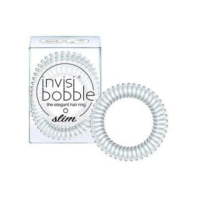 INVISIBOBBLE SLIM CRYSTAL CLEAR Резинка-браслет для волос 3 шт. (прозрачный)