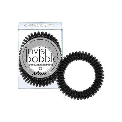 INVISIBOBBLE SLIM TRUE BLACK Резинка-браслет для волос 3 шт. (черный)