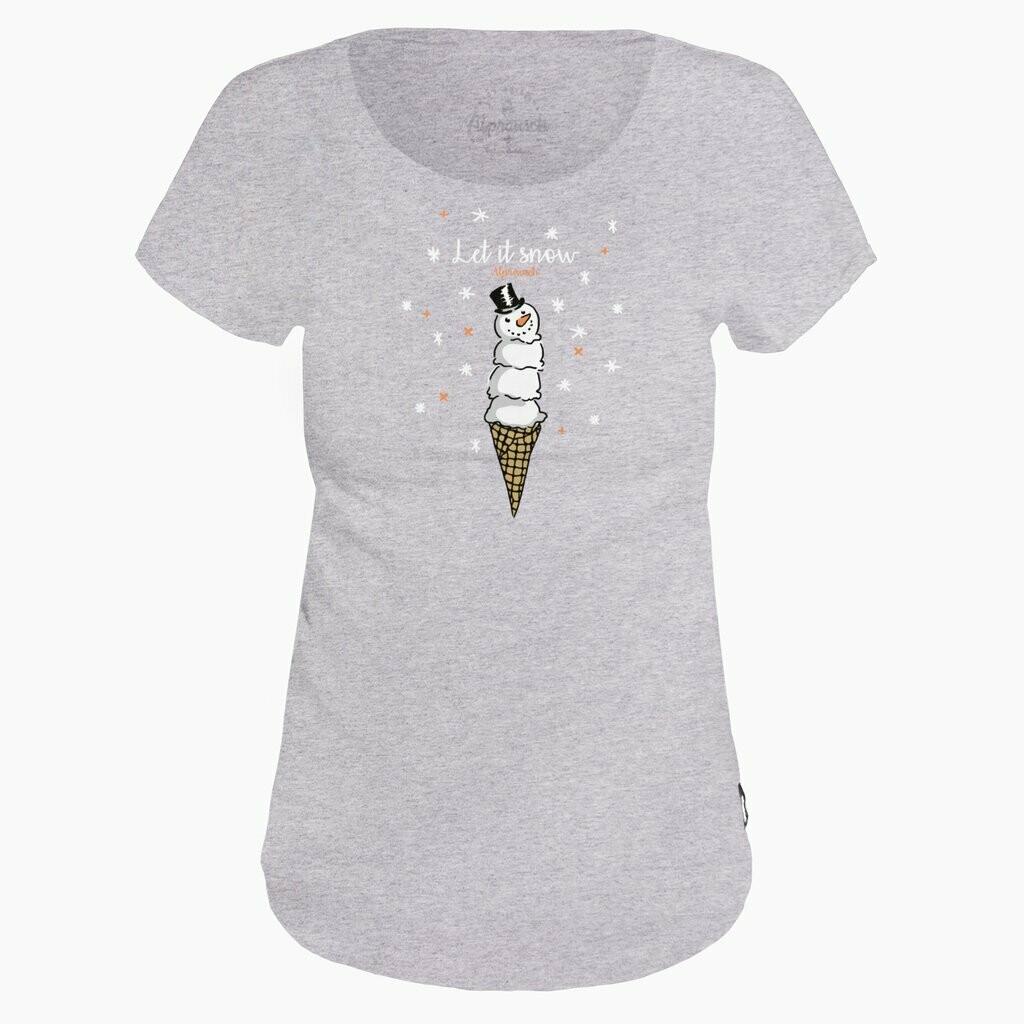 ALPRAUSCH Schneemann Cornet T-Shirt Lady
