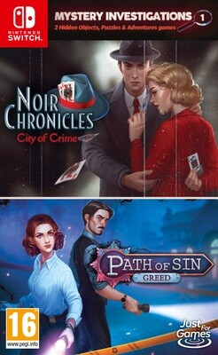 Mystery Investigations 1 – NOIR CHRONICLES: City of Crime + Patch of Sin: GREED (Switch) Game
