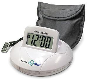 SBP100 Sonic Alert Portable Travel Vibrating Alarm Clock