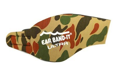 Camo size large Ear Band-It Ultra with pair of Floating Putty Buddies Ear Plugs
