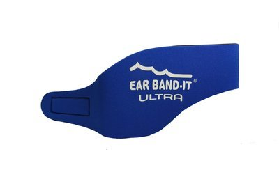 Blue size Large Ear Band-It Ultra with pair of Floating Putty Buddies Ear Plugs