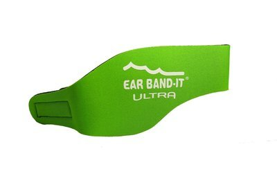Green size Large Ear Band-It Ultra with pair of Floating Putty Buddies Ear Plugs